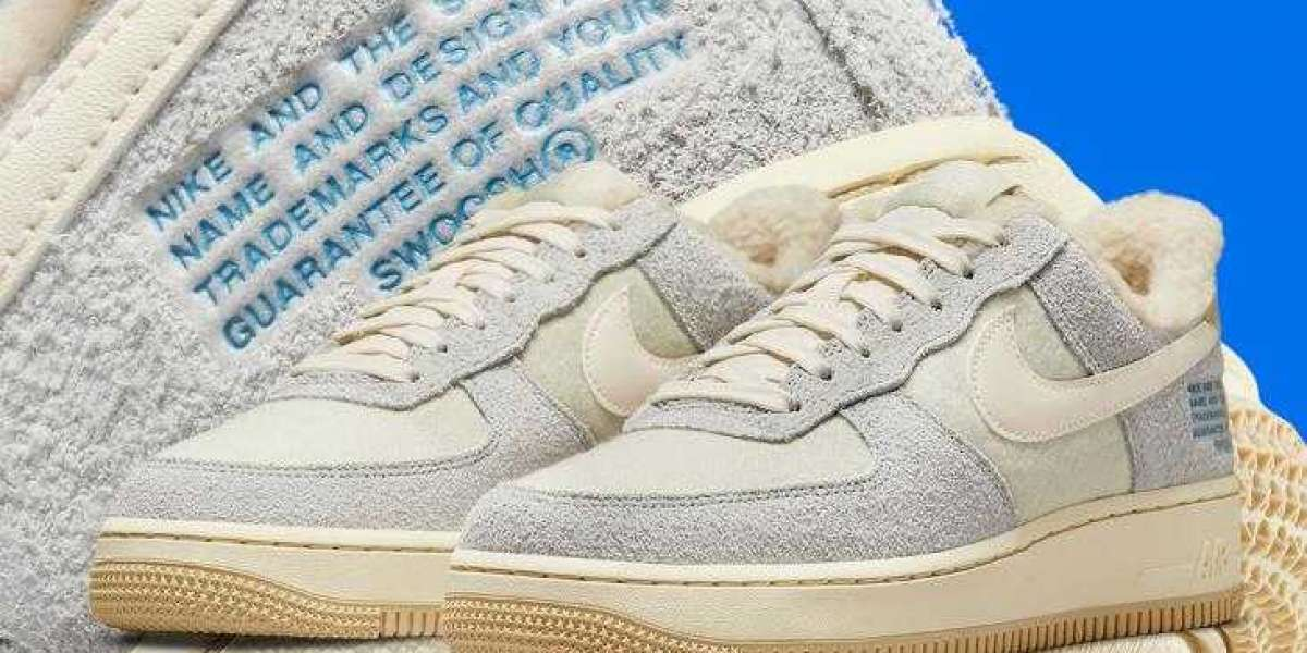 Fleece-Lined Nike Air Force 1 Dress UP with Trademark Text
