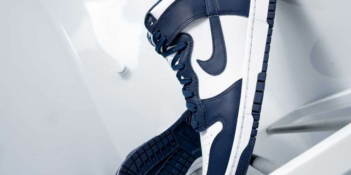 """DD1399-104 Nike Dunk High """"Midnight Navy"""" will be released on October 8th"""